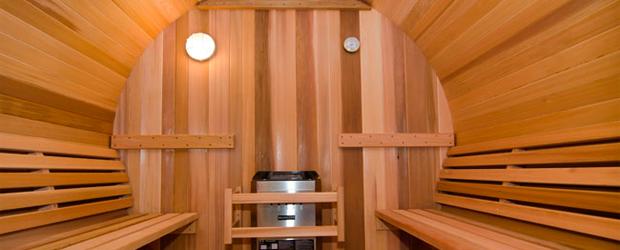 Saunas Exteriores Tipo Barril De Madera De Cedro Spas Wellness - Sauna-madera